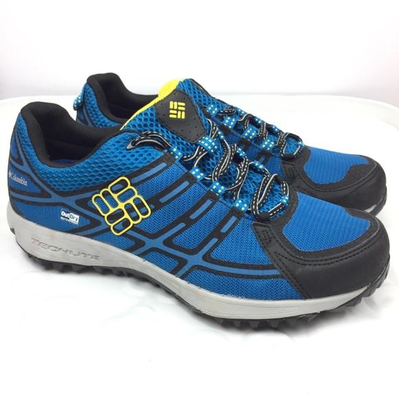 43136dd6f80ed Columbia Shoes | Mens Sport Hiking Shoe Blue Yellow 115 | Poshmark